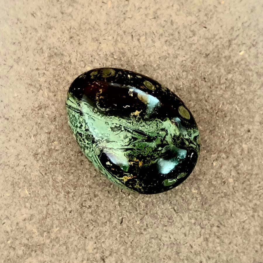 Green Jasper Yoni Egg